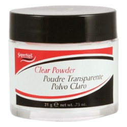 SuperNail Puder Akrylowy CLEAR  Powder 21g