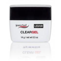 SuperNail Żel UV/LED Clear Gel - Przejrzysty 14g