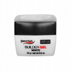 SuperNail Żel UV/LED Builder White - Biały 14g