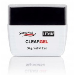 SuperNail Żel UV/LED Clear Gel - Przejrzysty 56g