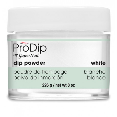 SuperNail Prodip POWDER White 8oz 226g